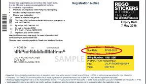 is the vehicle registration due date more than 21 days in the past