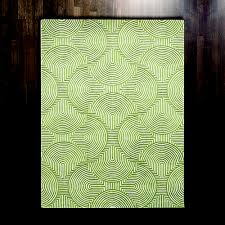 global views arches green and ivory rectangular 5 ft x 8 ft area rug