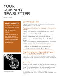 sample company newsletter company newsletter example company newsletter office templates