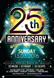 Free Anniversary Party Flyer Template Church Templates