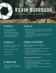 Photographer Resume Templates - Romeo.landinez.co