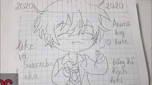 Vẽ Anime Boy chibi Kute, Hình vẽ kute (dễ thương) | Drawing cute Anime Boy  - YouTube