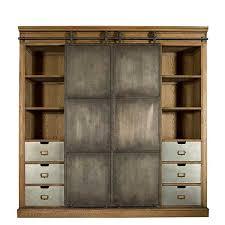 biblio industrial cabinet oak