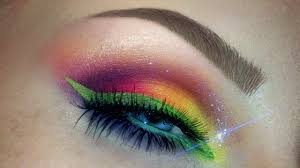 rainbow makeup tutorial easy bright summer makeup look you makeup trends makeup trends