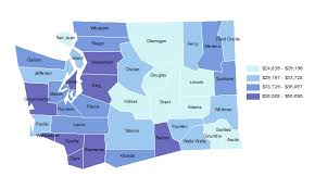 King County Median Home Price Chart Average Wages By County Map Office Of Financial Management