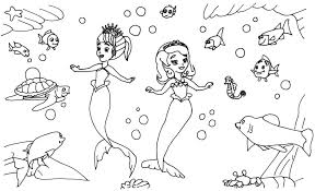 Sofia The First Coloring Pages Coloring Pages Mermaid Coloring