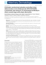 PDF) A retrospective analysis of the use of lokivetmab in the ...