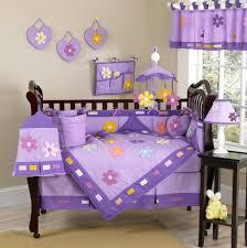 cute purple baby girl bedding set with flower design