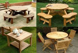 wooden garden tables wood patio tables