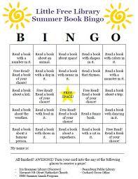 Office Bingo Little Libraries Summer Bingo Virginias Mountain Playground