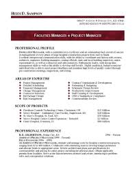 Best Ideas Of Facility Manager Resume With Facility Manager Sample