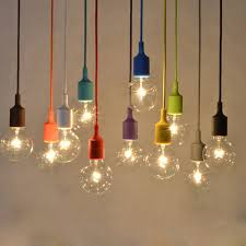 colored pendant lighting. modern pendant lamps for bedroom colourful fashional silica gel lamp multi color lights living colored lighting