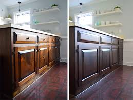 Restain Oak Kitchen Cabinets Impressive Using Polyshades To Darken Our Wood Cabinets Young House Love