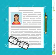 Schreiben Einer Gesch Ft Lebenslauf Zusammenfassung Vektor