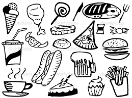 Printable Coloring Pages spanish christmas coloring pages : Cute Food Coloring Pages - glum.me