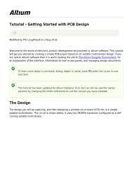 Altium Designer 17 Tutorial Pdf Online Documentation For Altium Products Tutorial Getting