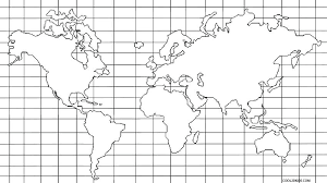 World Map Coloring Page Printable Free Pages Of United States U P