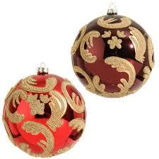 gold ornaments collection dumound raz ball ornament in red and burdy interior design 30
