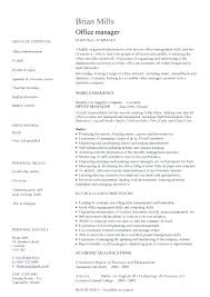 Office Manager Resume Template Gorgeous Office Manager Resume Template Medical Office Manager Resume Samples