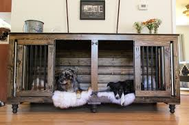 Rustic Indoor Dog Kennel Furniture  B\u0026B Kustom Kennels