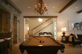 basmement pool room