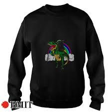 Baby Yoda riding Dinosaur Rainbow Canvas shirt, sweater, hoodie