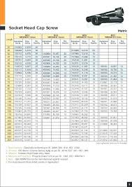 Metric Screw Size Chart Pdf Socket Screw Dimensions Cryptothink Co
