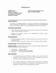 Sample Resume For Accountant Fresher Awesome Resume Format Mba