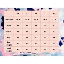 Singapore Size Chart Size Chart Womens Fashion On Carousell