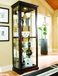 Glass Curio Cabinets With Lights Chocolate Cherry Curio Cabinet By Pulaski Furniture Curio