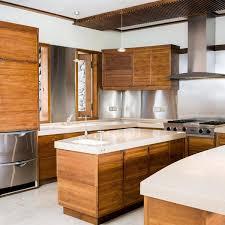 white floating shelves black granite countertop white marble floor