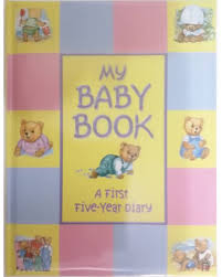 online baby photo book my baby book a first five year diary buy my baby book a first