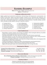 resume example example of a well written resume