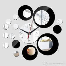2016 new wall clock modern design 3d clocks quartz watch plastic living room mirror wall sticker relogio de parede home decor ty1997 modern wall clocks for
