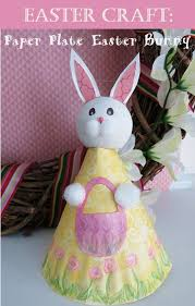 how to make a paper plate easter bunny figure