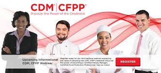certifying board for dietary managers cbdm cdm webinar