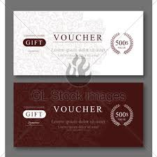 Gift Voucher Template Elegant Gift Voucher Template With Damask Pattern Gl
