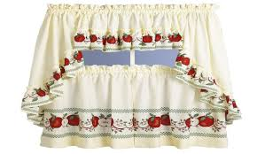Red Curtains For Kitchen Kitchen Curtains Red Print Cliff Kitchen