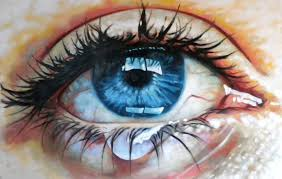 oil art painting blue eyes beauty beautiful realistic wallpaper