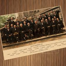 Solvay Conference Diagram Scientist Quantum Shine Retro Vintage Poster  Canvas Painting Wall Paper Home Decor Gift|canvas painting|poster canvasdiy  canvas painting - AliExpress