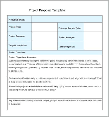 Proposal Template Example Free Download Project Word