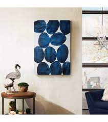 What after the blue living room decorating ideas? Royal Blue Baubles Stones Canvas Wall Art