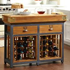 Kitchen Island with Wine Racks