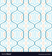 Morrocan Pattern Mesmerizing Simple Moroccan Pattern In Blue And White Vector Image