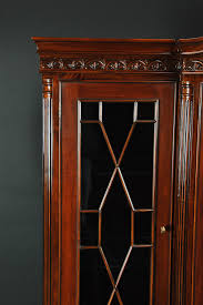 Chippendale China Cabinet Ball Claw Mahogany Dining Room China Cabinet With Gadroon