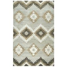 2 ft x 10 rug runner home gray southwestern motifs s