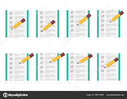 Pencil Checking On To Do List Animation Sprite Sheet