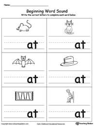 A collection of english esl worksheets for home learning, online practice, distance learning and english classes to teach about phonics, phonics. Beginning Word Sound At Words Kindergarten Reading Worksheets Kindergarten Phonics Worksheets Word Family Worksheets