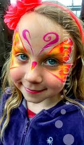 orange erfly face painting