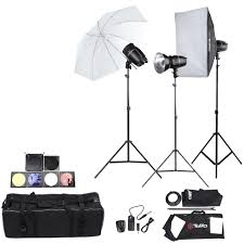 lighting set. Tolifo Professional Photography Photo Studio Speedlite Lighting Lamp Kit Set With (3 * )180W